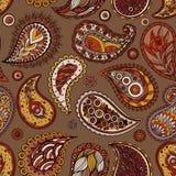 Etnische naadloze achtergrond Abstract kantpatroon Hand die kleurrijk behang trekken Stock Afbeeldingen