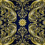 Etnische naadloze achtergrond van het damast de uitstekende bloemenmotief Royalty-vrije Stock Afbeelding