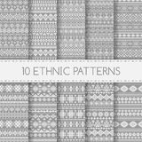Etnische naadloze patronen stock illustratie