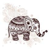 Etnische olifantsillustratie Royalty-vrije Stock Foto's