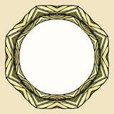 Etnische ronde mandala sierachtergrond Stock Foto
