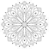 Etnische ronde mandala van het oosten Het kleuren voor volwassenen Royalty-vrije Stock Fotografie