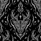 Etnische tatoegering Naadloos patroon Stock Afbeeldingen