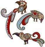 Etnische vogels vector illustratie
