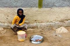 Etnische vrouw van Ethiopische markten Stock Foto's