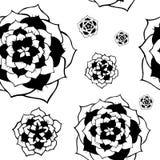 Etnisk abstrakt modell för sömlös vektor med blommor vektor illustrationer