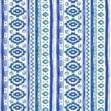 Etnisk afrikansk sömlös bakgrund för vattenfärg vektor illustrationer