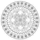 Etnisk blommaMandala för färgläggning royaltyfri illustrationer