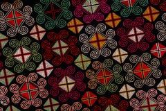 Etnisk broderimodell Royaltyfria Bilder