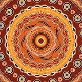 Etnisk cirkelbakgrundsdesign Australisk traditionell geometrisk prydnad royaltyfri illustrationer
