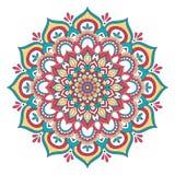 Etnisk dekorativ mandala Arkivfoton
