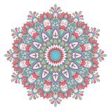 Etnisk dekorativ mandala Arkivfoto