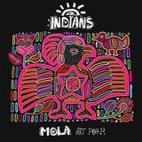 Etnisk designbeståndsdel för vektor indier MOLA Art Form Royaltyfri Bild