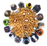 Etnisk etnicitet Team Teamwork Unity Concept för olik mångfald Arkivbild