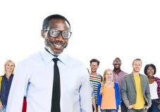 Etnisk etnicitetsamhörighetskänsla Team Partnership för olik mångfald Fotografering för Bildbyråer