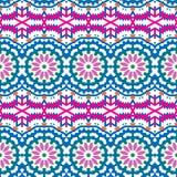 Etnisk färgrik bohemisk modell för vektor stock illustrationer