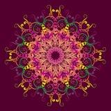 Etnisk flerfärgad mandala Royaltyfria Bilder