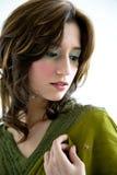 etnisk flickalooksida Royaltyfri Fotografi