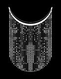 Etnisk geometrisk halslinje broderi Vektor illustration royaltyfri bild