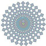 etnisk geometrisk mandala Arkivbilder