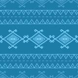 Etnisk geometrisk prydnad i bohostil tecknad hand Fotografering för Bildbyråer
