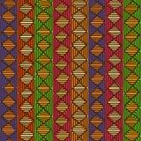 Etnisk geometrisk sömlös modell vektor illustrationer