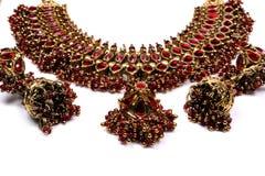 etnisk guldjewelery Arkivbilder
