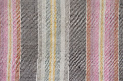 Etnisk Homespun textilbakgrund Arkivfoton