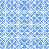 Etnisk indigoblå sömlös tegelplattabakgrund royaltyfria bilder