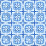 Etnisk indigoblå sömlös tegelplattabakgrund royaltyfri fotografi