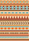 Etnisk indisk modell Aztec navajo Stock Illustrationer