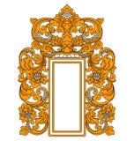 Etnisk indonesisk ram royaltyfri illustrationer