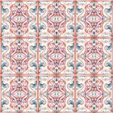 Etnisk keramisk design för vattenfärg Arkivfoton