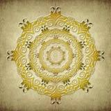 Etnisk mandala på grungebakgrund Royaltyfria Bilder