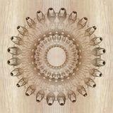 Etnisk mandala på wood bakgrund Arkivfoton