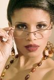 etnisk modeflickastående royaltyfria bilder