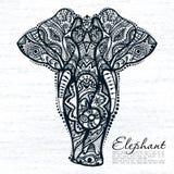 Etnisk modell av elefanten royaltyfri illustrationer