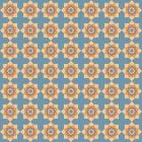 Etnisk modell för geometrisk blomma Royaltyfria Bilder
