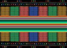 Etnisk modell för mexicansk etnisk konst för broderi stam- Folk abstrakt geometrisk upprepande bakgrund för färgrika mexicanska f royaltyfri illustrationer