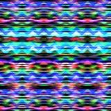Etnisk modell för sömlös färgrik vågsicksack Fotografering för Bildbyråer