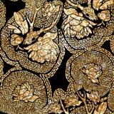 Etnisk modell i zentanglestil för textil, Royaltyfria Bilder