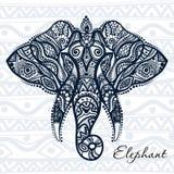 Etnisk modellelefant royaltyfri illustrationer