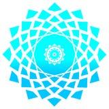 Etnisk mystisk modell med triangeln och cirklar Mandala Ethnic cirkelprydnad vektor illustrationer