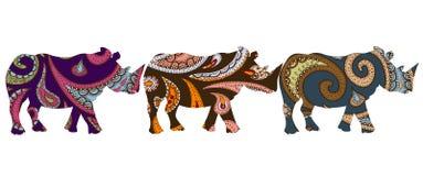 etnisk noshörning Arkivfoto