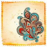 Etnisk paisley prydnad Royaltyfria Bilder
