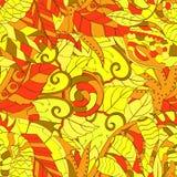 Etnisk prydnad för Tracerymehndi Likgiltigt diskret lugna motiv, användbar klottra färgrik harmonisk design vektor Royaltyfri Fotografi