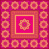 Etnisk prydnad i indisk stil royaltyfri illustrationer