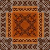 Etnisk prydnadmattdesign royaltyfri illustrationer