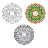 Etnisk rosett vektor illustrationer