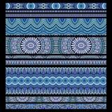 Etnisk sömlös bandbakgrundsuppsättning Royaltyfria Bilder